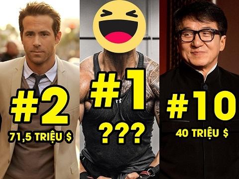 Top 10 nam diễn viên kiếm tiền nhiều nhất năm 2020