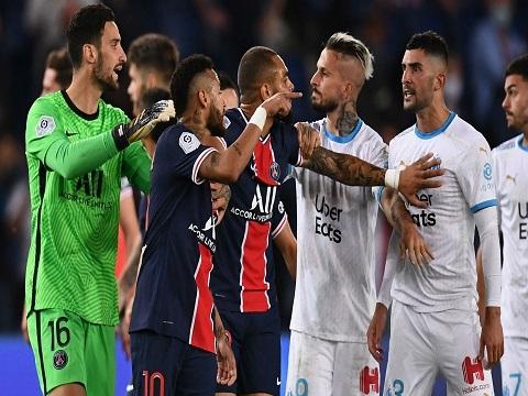 Neymar đấm đối thủ, 'mưa thẻ đỏ' trận PSG - Marseille
