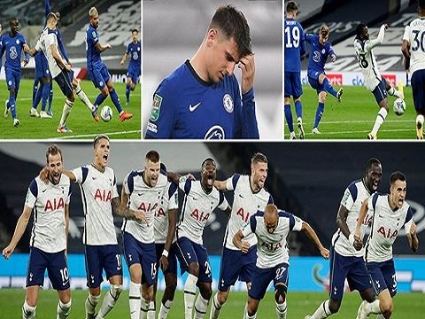 Tottenham Hotspur 1-1 Chelsea (5-4 pens Cup Liên đoàn Anh)