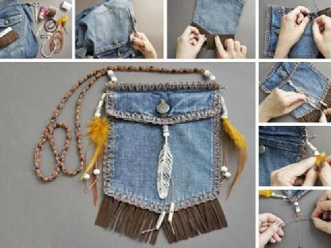 Giải cứu quần jean bằng hàng loạt món đồ handmade