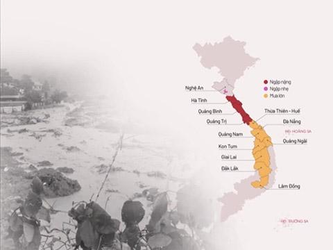 134 người chết và mất tích trong mưa lũ lịch sử miền Trung
