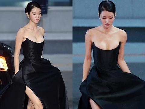 'Điên nữ' Seo Ye Ji khoe vòng 1 căng tràn tại thảm đỏ Buil Film Awards