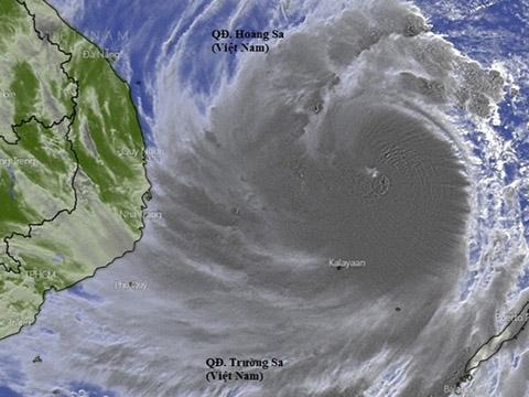 Bão số 9 cấp độ cuồng phong, một trong những cơn bão mạnh nhất 20 năm qua