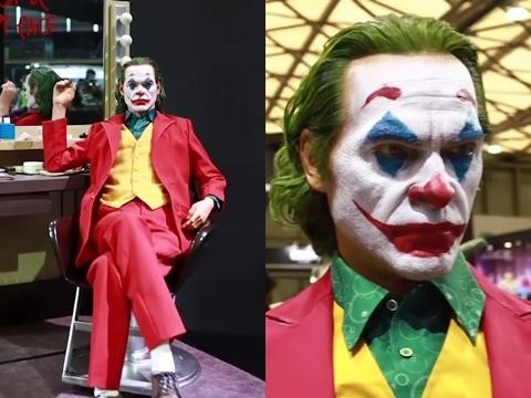 Tượng Joker giống hệt người thật đến 'nổi da gà'