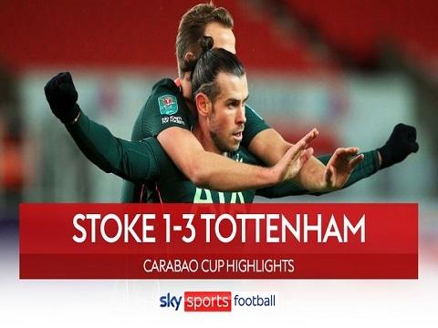Stoke 1-3 Tottenham (Tứ kết Cup Liên Đoàn Anh)