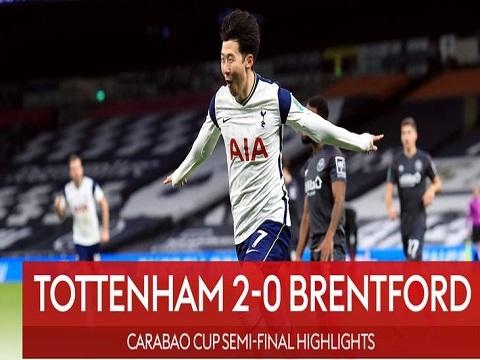 Tottenham 2-0 Brentford (Bán kết Cup Liên Đoàn Anh)