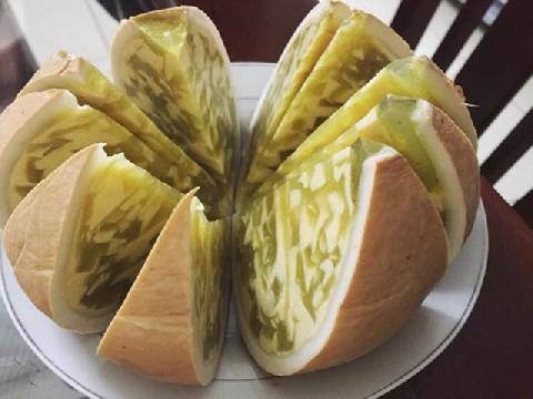 Tự làm rau câu flan trái dừa