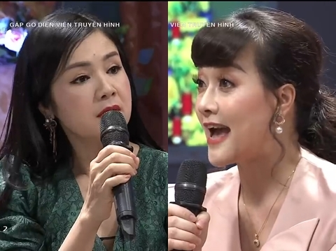"""NSND Thu Hà - Vân Dung diễn lại cảnh dằn mặt trong """"Hướng dương ngược nắng"""""""
