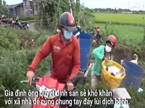 Một nông dân ở Đồng Tháp tặng nguyên ao cá 'giúp bà con mùa dịch'