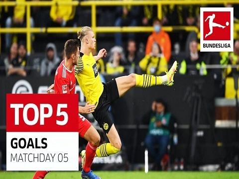 Top 5 bàn đẹp vòng 5 Bundesliga